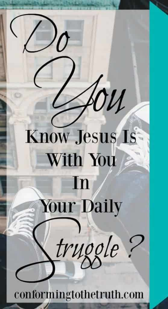 Is it hard to see Jesus in your struggles? It has been for me at times! Join me as I  walk through the Bible and show you some verses that I hope will encourage you in your struggle! Jesus is with you in your struggle!