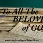 A  Letter of Love to the Beloved of God!