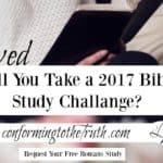 Will You Take A 2017 Bible Study Challenge?