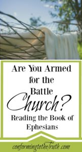 Did you know the church is under attack? Are you armed for the battle? The book of Ephesians gives us the tools we need for the battle!