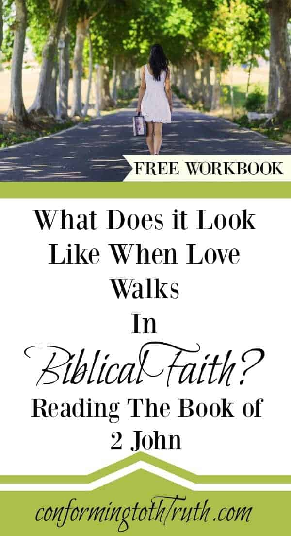 Learning to walk in the Love of the truth. 2 John is a small 13 verse letter all about teaching us what walking in true love is. Join Conformingtothetruth as we read through this love packed book.