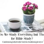 Why Do We Study Everything but the Bible for Bible Study?