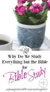 Why do we study everything but the Bible for Bible Study? There is a trend today. Believers are using more man made material for Bible study than the Bible.