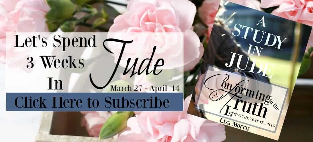Lets Study Truth together! Three Week Bible study in Jude!