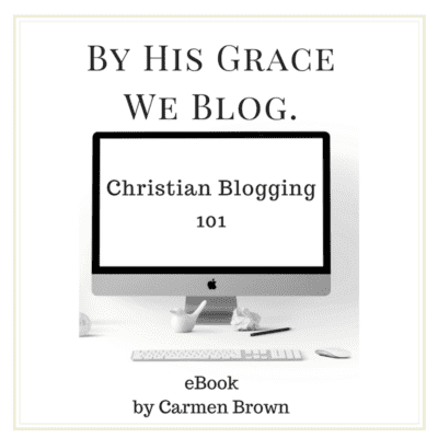 Christian blogging 101. Get your eBook today.