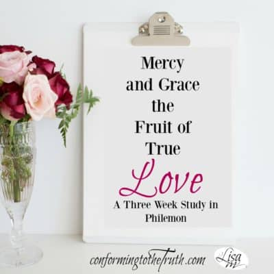 Grace and mercy the fruit of true love. Do we run to others who have wronged us with the same love that Christ extended to us?