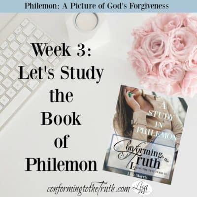The book of Philemon paints a picture of God's forgiveness. This book uses the lives of three men to teach us how to extend love and forgiveness to others.