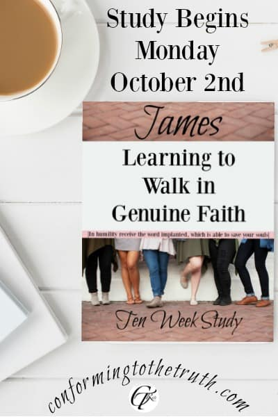 Learning to walk in genuine faith through a Bible Study in James.